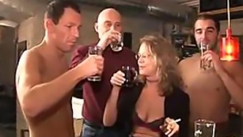 Insanely Hot Submissive Mature Gets Gangbanged and Facialized Big Time