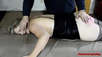 Hot Girl Takes the Strap! - (Spanking)