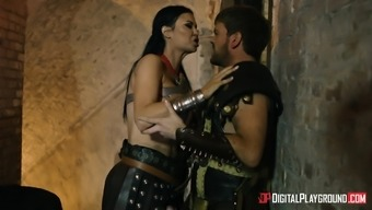 Jasmine Jae seduced by a horny lover for a hot fucking session