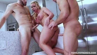 Whorish milf Phoenix Marie seduces husband's friend and arrange dirty 3some sex