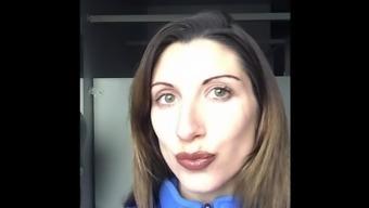 H lipstick Jerk off challenge compilation