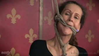 Wild couple is gonna give hard core BDSM lesson to kinky granny Paintoy Emma