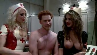 Felony and Lorelei Lee Make Machine Fuck Guy in Femdom Bondage video