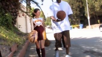Petite Teen Cheerleader Mae Meyers Fucks Black Dick