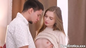 Long Haired Blonde Teen Adel Bye Takes an Impressive Fucking from Her BF