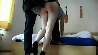 Spanking Fetish Sex  For Crazy Young Hottie
