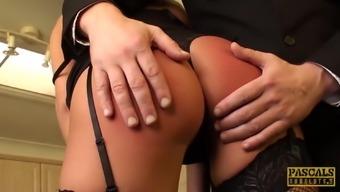 PASCALSSUBSLUTS - Hot Eva Johnson submits to anal discipline