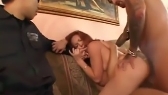 Cuckold watches trinity get double penetrated