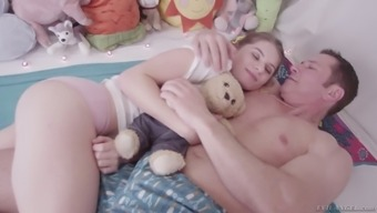 Barely legal teen Alice March is making love with her perverted stepdad