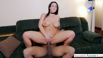 Just damn fantastic huge breasted bitch Angela White gets fucked in spoon pose