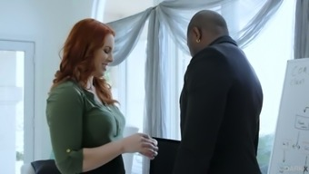 Sexually charged red head Edyn Blair gets intimate with one horny mandingo
