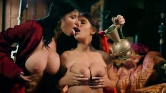 Ayda Swinger and Romi Rain in smashing roleplay threesome
