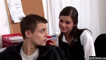 Little Caprice has always wanted to have oral sex with her boyfriend