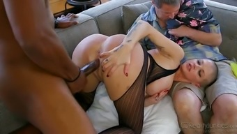 Husband allows whore wife to serve black neighbor at the highest level