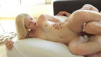 Blondie Aubrey Gold having a good time with her sex partner