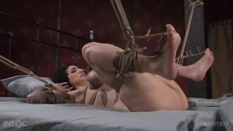 Titties and legs tied tight as the BBC fucks her sub pussy