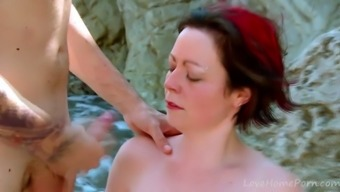 Ginger With Nice Tits Get Fucked At Beach.mp4