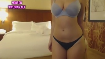 amateur strips in hotel room