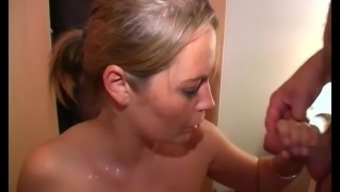 Sexy Lexi and Alexis May take facials and cumshot in a bukkake party video