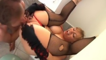 Busty Blonde Ass To Mouth 2