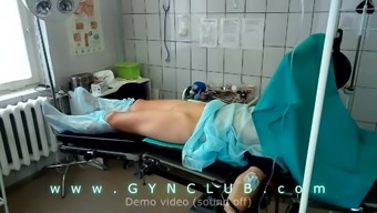 Girl on surgery table - dildo massage