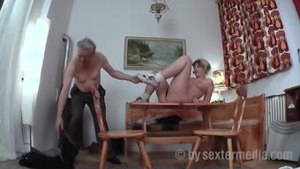 Old grandpa fucks the neighbor