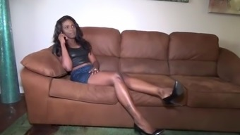 Sexy ebony babysitter tricked into bondage