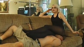 Anna Evans Facesit + Smother in Pantyhose Part 2