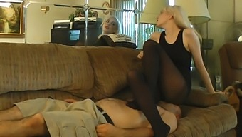 Anna Evans Facesit + Smother in Pantyhose Part 1