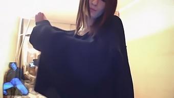 My lovely girlfriend Berta Li Lu, strip dance, teen masturbation