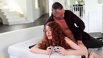 Mesmerizing first timer Abbey Rain gets shaved sissy slammed