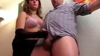 Pantyhose HJ with cumshot