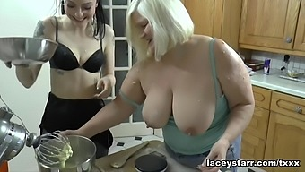 Alessa Savage & Lacey Starr in Lesbian Cookery Class - LaceyStarr