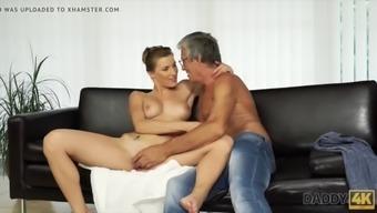 Dad fucks beautiful mistress victoria daniels on couch