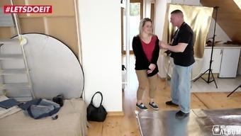 LETSDOEIT - Sexy Czech MILF Rides Cock in Photo Shoot Sex