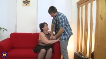 Kinky granny suck and fuck strong son