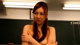 Hot japan teacher gets plenty of pecker in her pussy