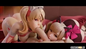 Sexy 3d mercy and dva sex compilation