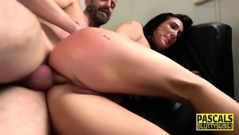 Spidergagged milf sub