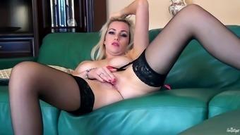 Scrumptious Anna Victoria Masturbates In A Solo Model Video