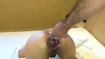 Double anal fisting amateur Latina slut