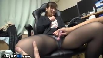 Jav hostess has sex in pantyhose and uniform