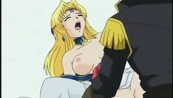 Chesty hentai fairy gets slick twat banged hard from behind
