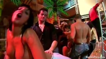 Dirty whores go wild after crazy Brazilian party