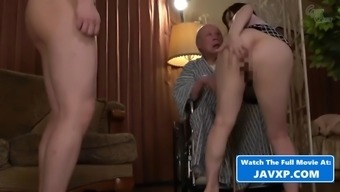 Japanese housewife fucks grandfather