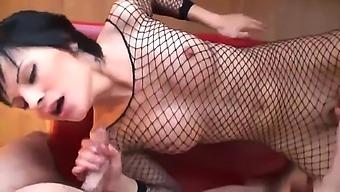 Brunette Abbie Cat taking part in point of view porno movie