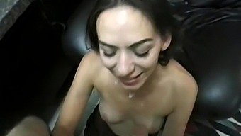 A Slow & Sexy Blow Job ends with so much mess over her face