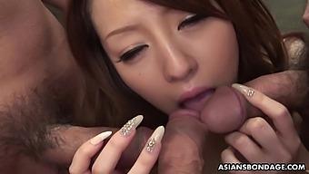 Insatiable fuck doll, Ria Sakurai is pleasing three men