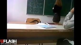 Teacher and students upskirt