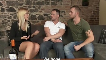 Gay couple invite their friend over for a fuck